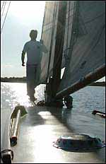 Ellen MacArthur on the Norfolk Broads